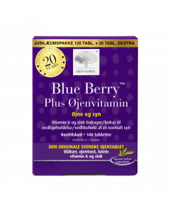 Blue Berry™ Plus Øjenvitamin - jubileumspakke 140 tabl.